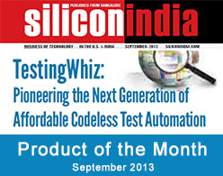TestingWhiz - Product of the Month SiliconIndia