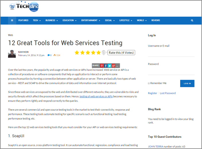 Top 12 Tools for Web Services Testing