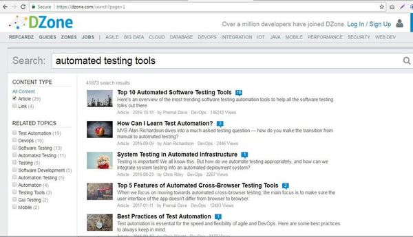 DZone Automated Testing Tools