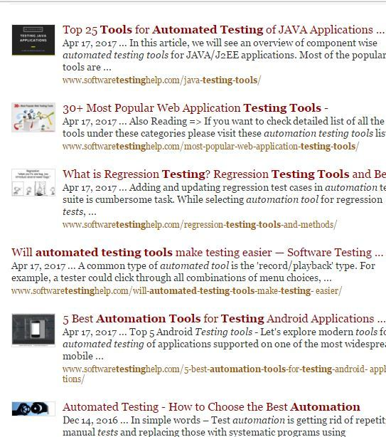 STH Automated Testing Tools